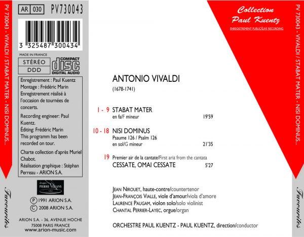 Vivaldi - Stabat Mater - Nisi Dominus - 1er air de la Cantate