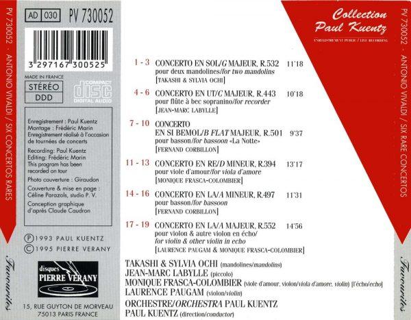 Vivaldi - Six concertos rares