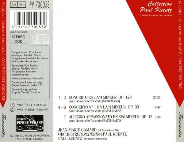 Schumann / Saint-Saëns - Concertos pour violoncelle