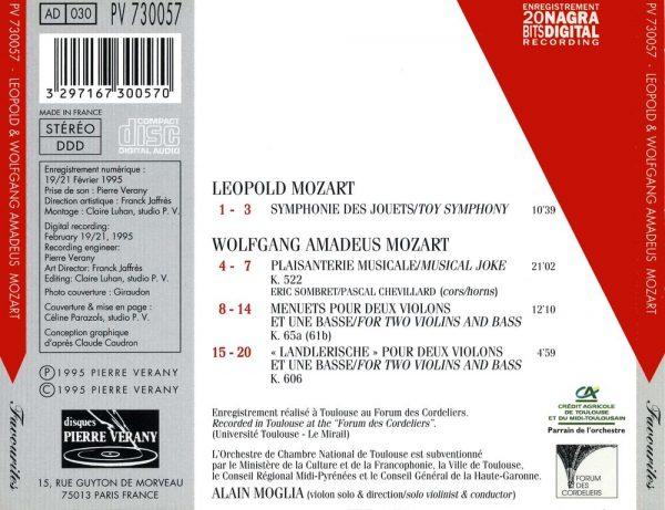 Mozart W.A & L. - Symphonie des Jouets - Plaisanteries Musicales