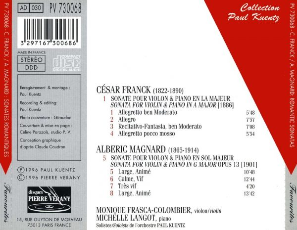 Franck / Magnard / Alberic - Sonates Romantiques