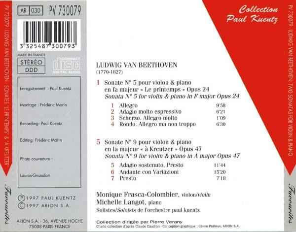 """Beethoven - Sonates """"Le Printemps"""" - """"A Kreutzer"""""""