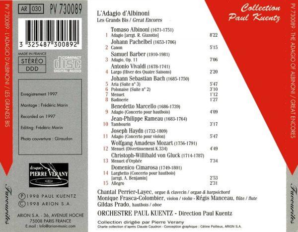 L'Adagio d'Albinoni - Les grands bis Vol.1