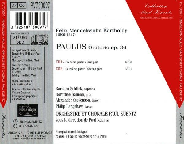 Mendelsohnn - Paulus Oratorio, Op. 36