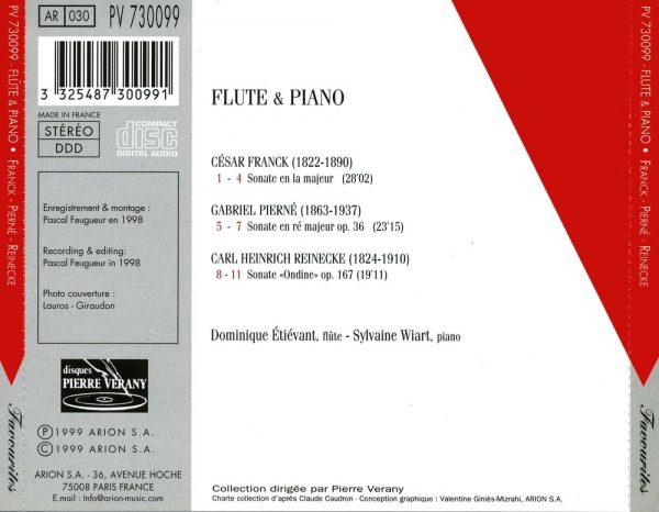 Franck / Pierné / Reinecke - Flûte & Piano