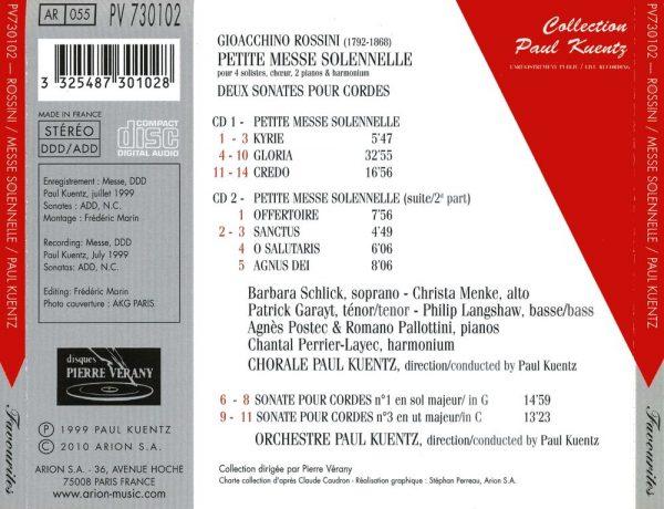 Rossini - Petite Messe Solennelle - Deux Sonates Pour Cordes