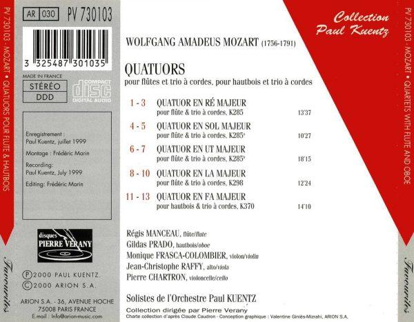 Mozart - Quatuors Pour Flute & Pour Hautbois & Trio A Cordes