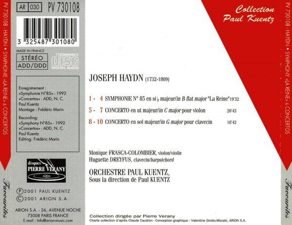 """""""Haydn - Symphonie N° 85 """"""""La Reine"""""""" - Concertos"""""""