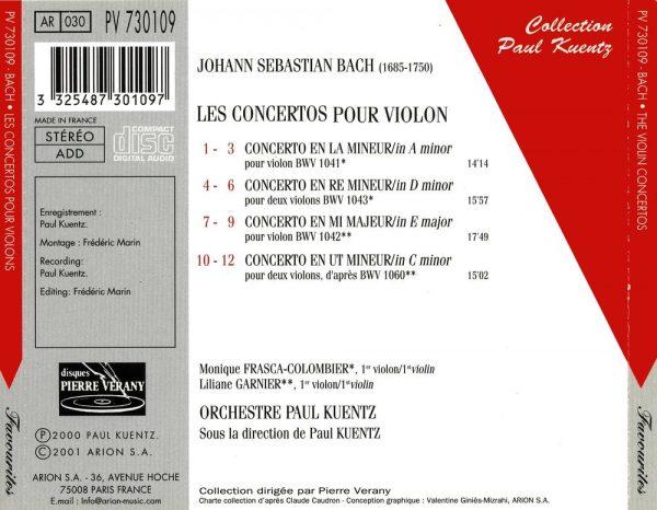 Bach J.S. - Les Concertos pour Violon