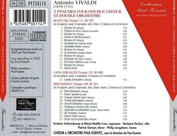 Vivaldi - 3 Psaumes à double choeur et double orchestre