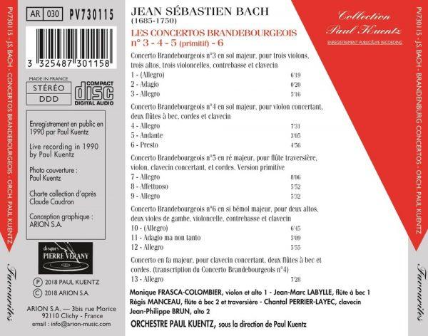 Bach J.S.  - Concertos Brandebourgeois N°3 à 6