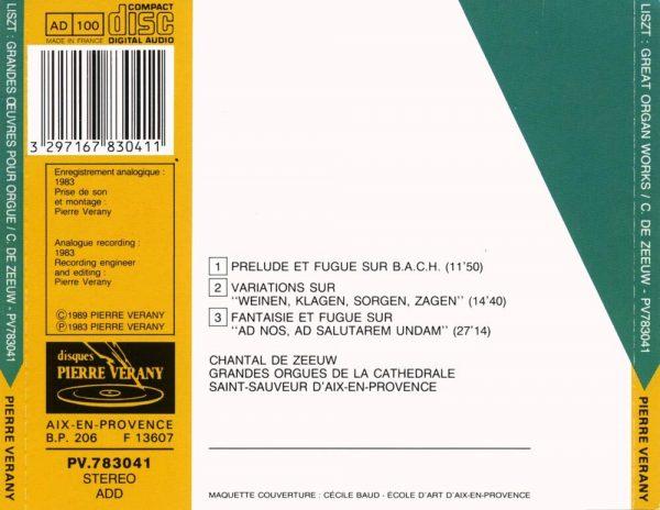 Liszt - Œuvres pour orgue