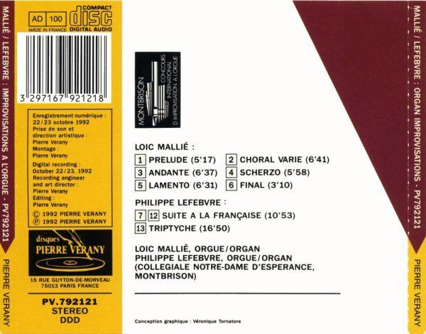 Mallié/Lefèbvre - Improvisations à l'orgue