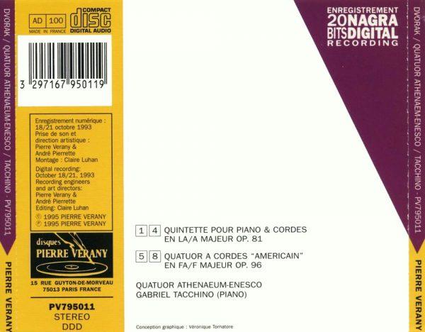 """""""Dvorak - Quintette Op.81 & Quatuor """"""""Americain"""""""""""""""