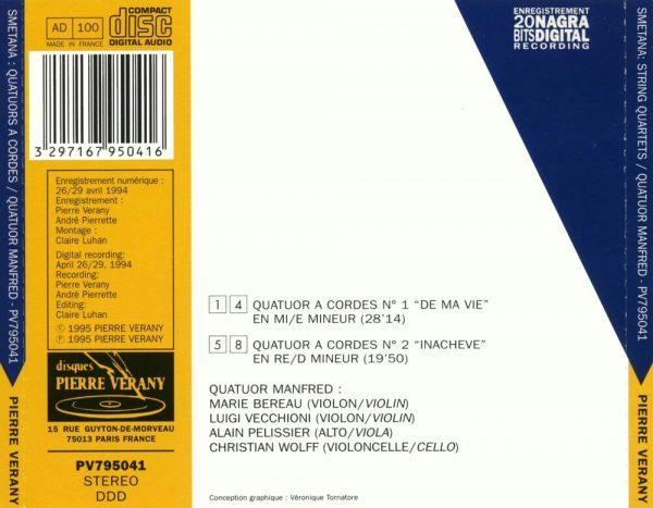 Smetana - Quatuor à cordes 1 & 2
