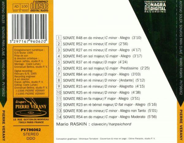 Soler - Sonatas para clave
