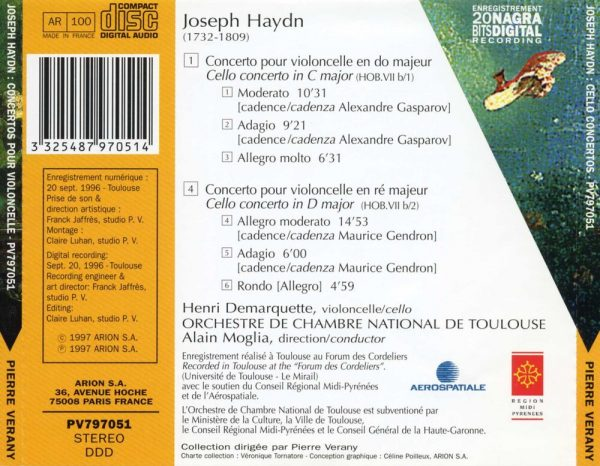 Haydn - Concertos pour violoncelle