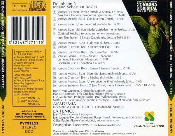 De Johann à Johann Sébastien Bach - Motets