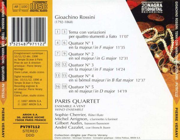 Rossini - Quatuors pour ensemble à vents
