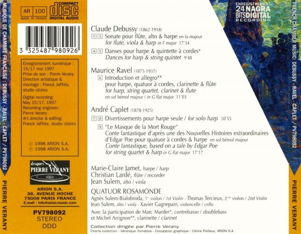 Debussy/Ravel/Caplet - Musique de chambre