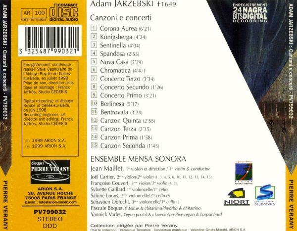 Jarzebski - Canzoni e Concerti