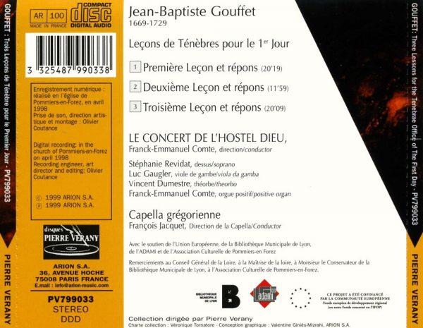 Gouffet - Trois leçons de ténèbres
