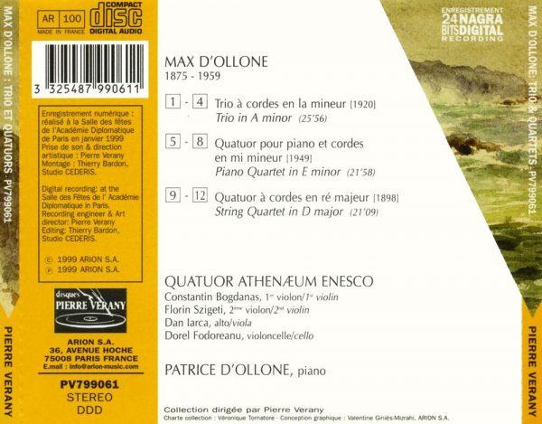 D'Ollone - Trios & quatuors