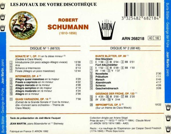 Schumann - Sonate N°1, Op. 11 - Quasi Variazioni, Op. 14