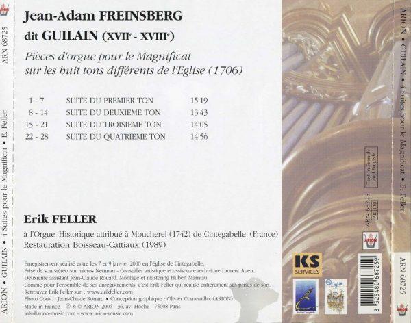 Guilain - 4 Suites pour le Magnificat (1706)