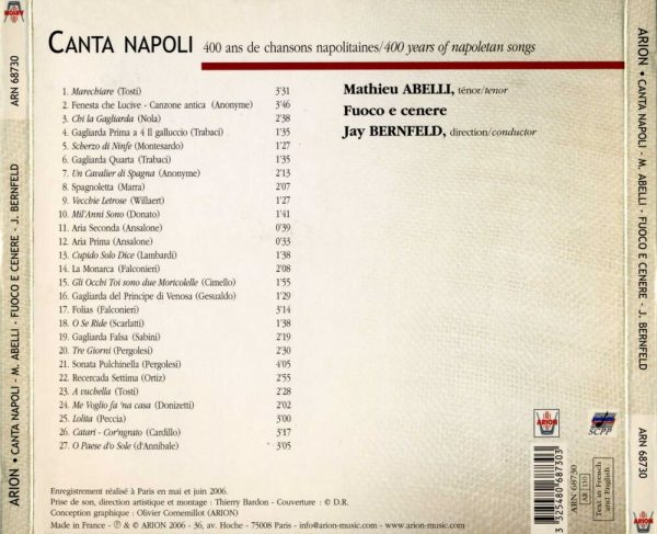 Canta Napoli - 400 ans de chansons napolitaines
